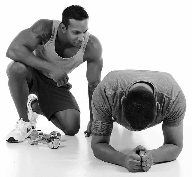 two men working out