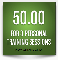 3 personal training sessions for $50
