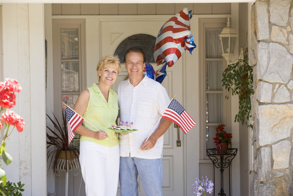 Couple on 4th of July