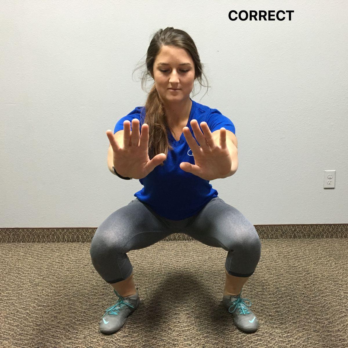 correct squat position