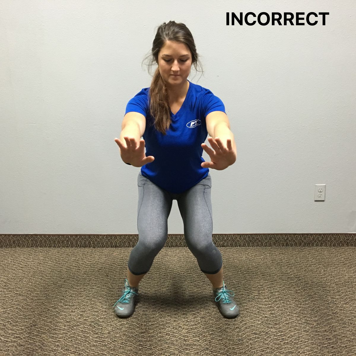 incorrect squat position