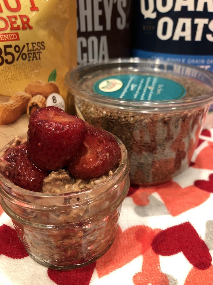 Overnight Oatmeal W/Strawberries