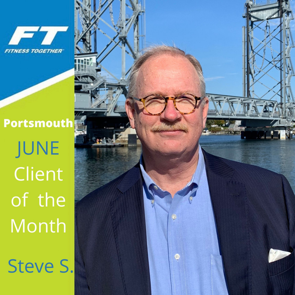 Steve in a client of the month frame