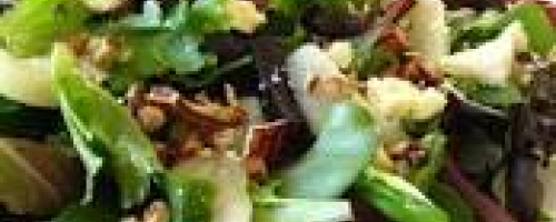 Dr. Janet's Spinach, Pear, and Gorgonzola Cheese Salad with Walnuts
