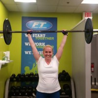 client lifting weights