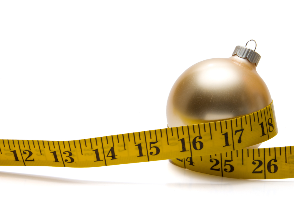 measuring tape wrapped around ornament