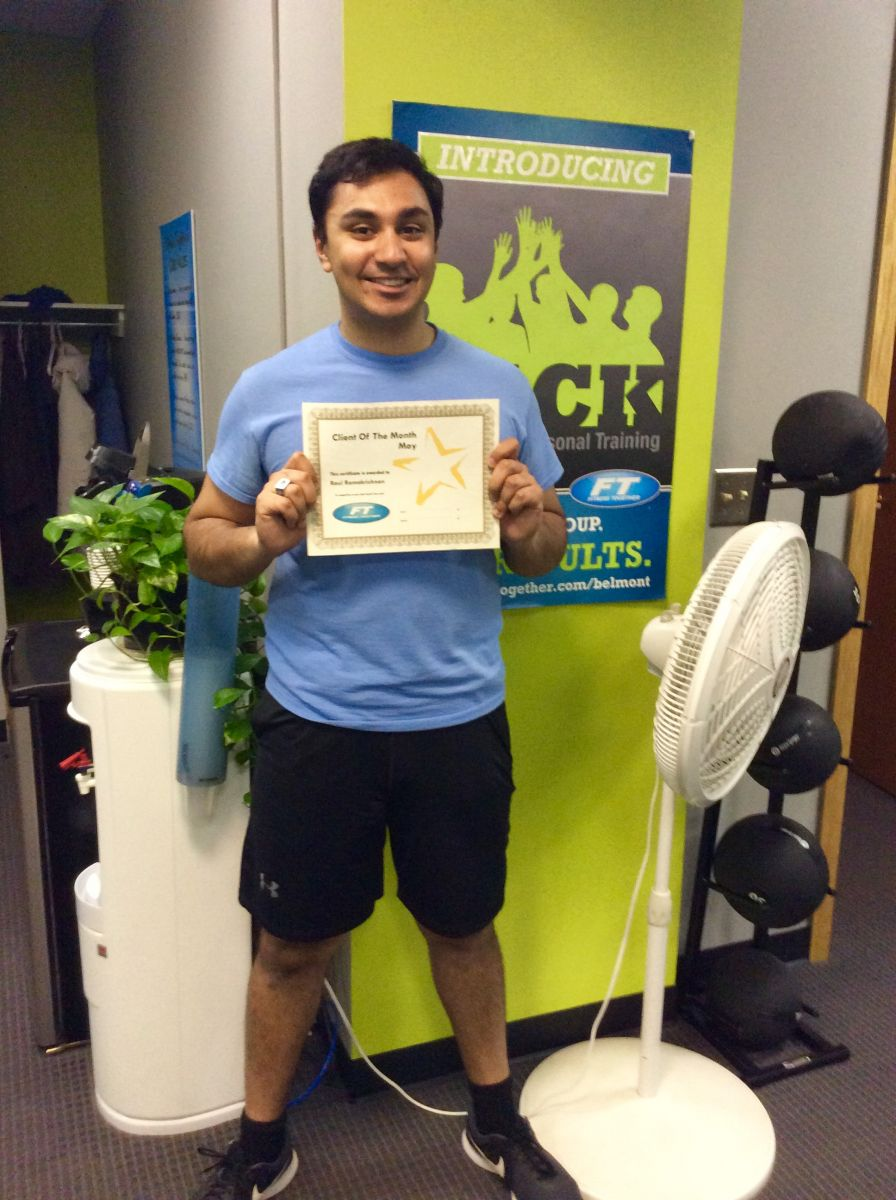 Rahul at the Fitness Together Studio