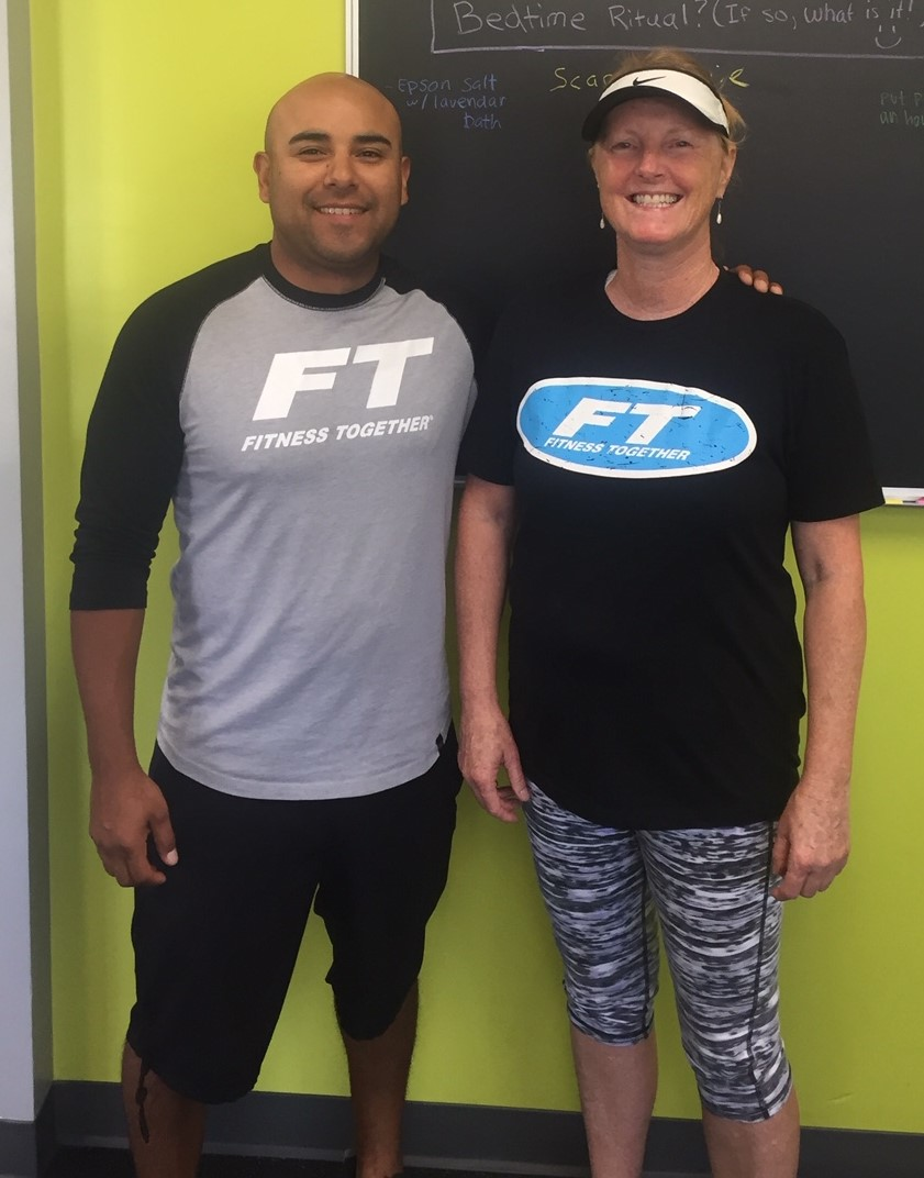 Linda and her trainer