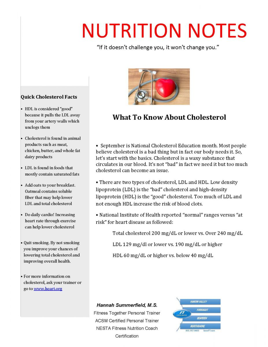 Cholesterol Management Basics Blog Farragut Fitness Together