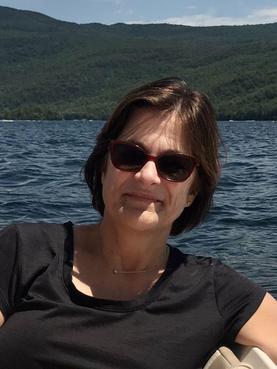Ann enjoying the outdoors & water
