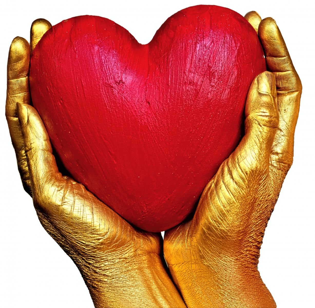 heart being held by two hands