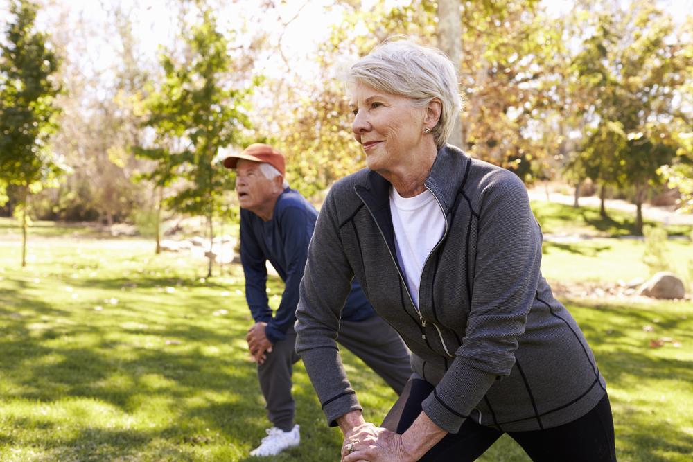 Aging and fitness exercise getting older working out staying healthy